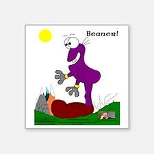 """Beaner! In Purrpl Square Sticker 3"""" x 3"""""""