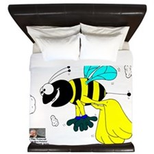 Brooklyn Bee-Banana Bee! King Duvet