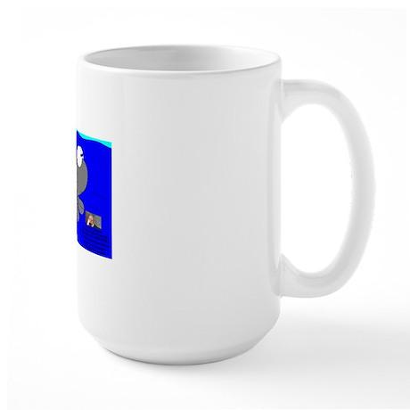 Deep Blue Sea Blee The Spud Fish In Sto Large Mug
