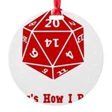20 Sided Roll Red Ornament