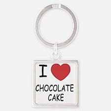 CHOCOLATE_CAKE Square Keychain