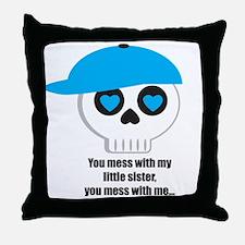bigbrotherlittlesister Throw Pillow