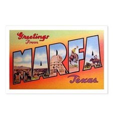 Marfa Texas Greetings Postcards (Package of 8)