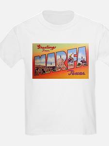 Marfa Texas Greetings (Front) Kids T-Shirt
