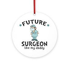Surgeon Dad Round Ornament