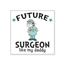 "Surgeon Dad Square Sticker 3"" x 3"""
