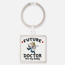 Doctor Dad Square Keychain
