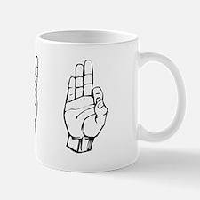 ivf fingerspelling Mug