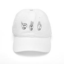 ivf fingerspelling Baseball Cap