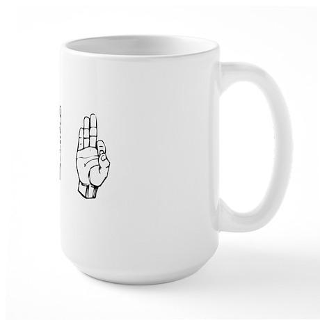 ivf fingerspelling Large Mug