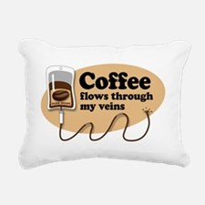 coffeeVein Rectangular Canvas Pillow