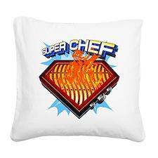 super chef Square Canvas Pillow