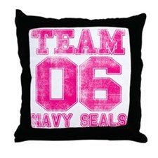 team6pink Throw Pillow