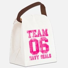 team6pink Canvas Lunch Bag