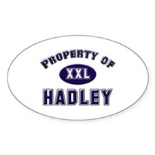 Property of hadley Oval Decal