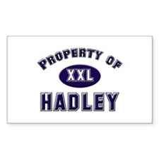 Property of hadley Rectangle Decal