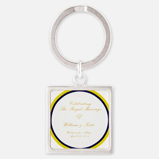 royal-plate2 Square Keychain
