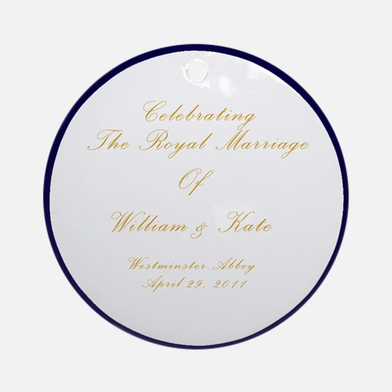 royal-plate2 Round Ornament