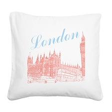 London_10x10_apparel_BigBen_L Square Canvas Pillow