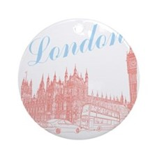 London_10x10_apparel_BigBen_LightBl Round Ornament