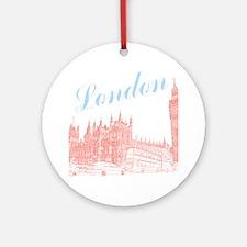 London_10x10_apparel_BigBen_LightBl Round Ornament
