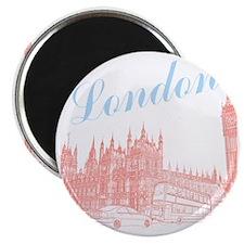 London_10x10_apparel_BigBen_LightBlueRed Magnet