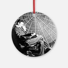 Teslathinker Round Ornament