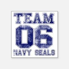 "team6navy Square Sticker 3"" x 3"""