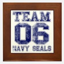 team6navy Framed Tile