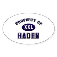 Property of haden Oval Decal