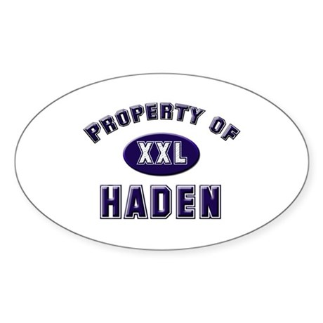 Property of haden Oval Sticker
