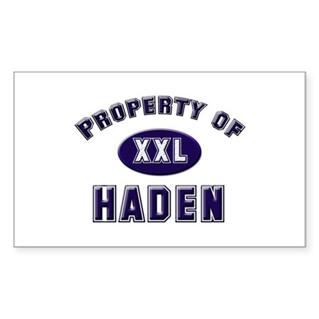 Property of haden Rectangle Sticker