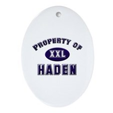 Property of haden Oval Ornament