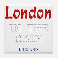 London_10x10_apparel_Love_InTheRain_L Tile Coaster