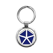 V Corps Round Keychain