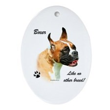 Boxer Breed Oval Ornament