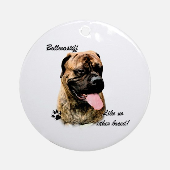 Bullmastiff Breed Ornament (Round)