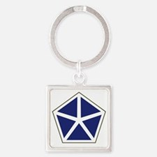 V Corps Square Keychain