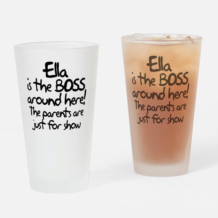 boss_ella Drinking Glass