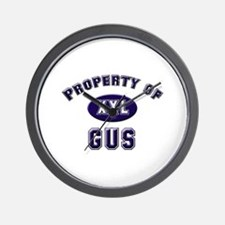 Property of gus Wall Clock