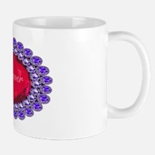 Forever_ruby_heart_broach_ellipse_trans Mug
