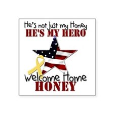 "T1_Honey Square Sticker 3"" x 3"""