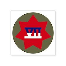 """VII Corps Square Sticker 3"""" x 3"""""""