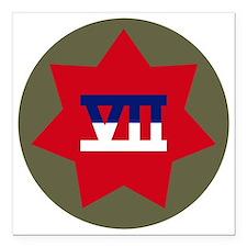 "VII Corps Square Car Magnet 3"" x 3"""