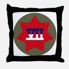VII Corps Throw Pillow