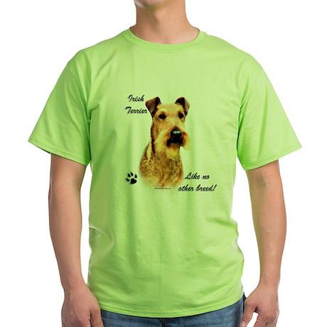 Irish Terrier Breed Green T-Shirt