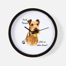 Irish Terrier Breed Wall Clock