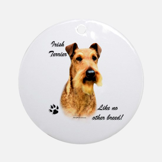 Irish Terrier Breed Ornament (Round)