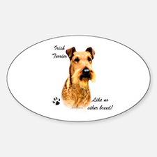 Irish Terrier Breed Oval Decal