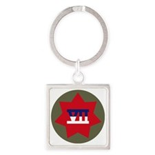 VII Corps Square Keychain